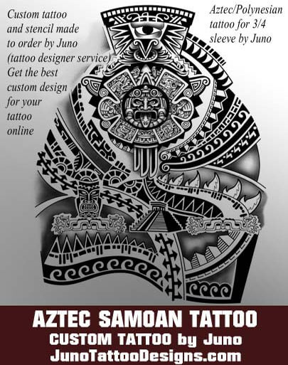 Aztec samoan tattoo, polynesian tattoo, dwayne johnson tattoo, arm tattoo, male tattoo, juno tattoo designs