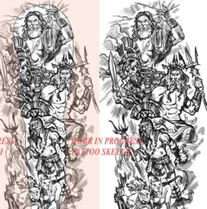 Greek Mythology Tattoo Poseidon Hades Hares Zeus Create A