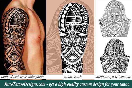 Tim Cahill tattoo, custom polynesian tattoo template, polynesian arm tattoo