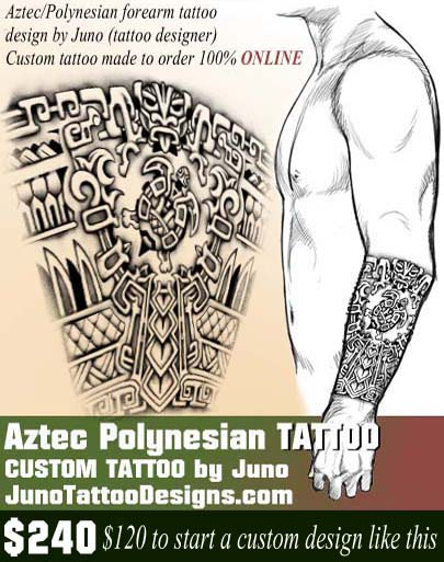 aztec tattoo, polynesian tattoo, juno tattoo designs