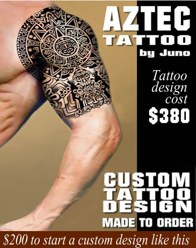 aztec tribal tattoo, shoulder man tattoo, juno tattoo designs