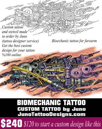 biomechanic forearm tattoo, juno tattoo designs, tattoo template