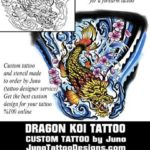 dragon koi tattoo, tattoo template, juno tattoo designs