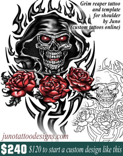 grim reaper tattoo template by juno tattoo designs how to create a