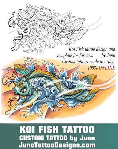 koi fish tattoo stencil, juno tattoo designs