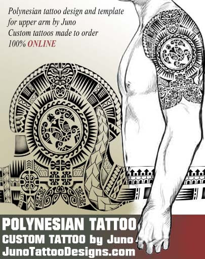 polynesian tribal tattoo, polynesian design, samoan tattoo template, custom tattoo, juno tattoo designs
