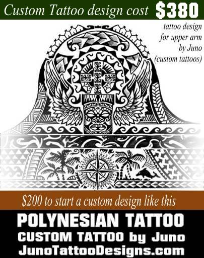 Polynesian Tiki Tattoo Designs: Get A High Quality Arm Tattoo Online