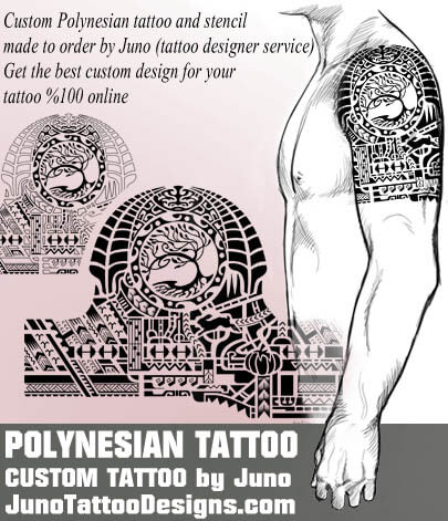 polynesian tree tattoo - samoan tattoo template - juno tattoo designs
