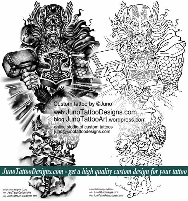 thor norse mythology tattoo template by juno tattoo designs how to create a tattoo 0 online. Black Bedroom Furniture Sets. Home Design Ideas