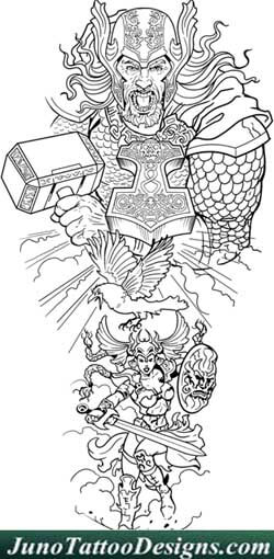 designing a tattoo sleeve template - thor valkyrie tattoo template juno tattoo designs how to
