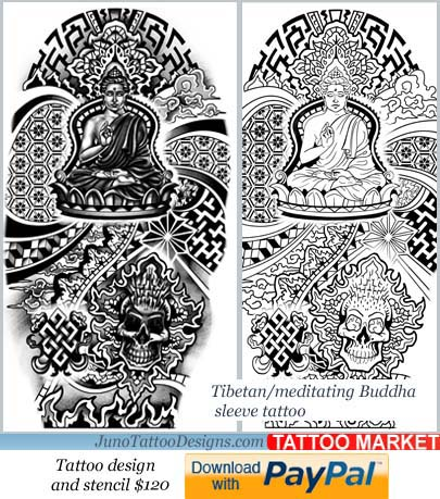 Meditating buddha tattoo archives how to create a tattoo for Designing a tattoo sleeve template