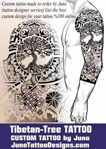 If You Are Looking For A Custom Tibetan Buddhist Tattoos I Can Create A  Custom Design With Your Own Specifications. Tibetan Tattoo, Tree Of Life ...