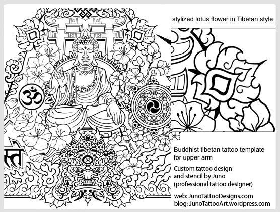 Stylized lotus flower tibetan style tattoo template how to stylized lotus flower tibetan style tattoo template mightylinksfo