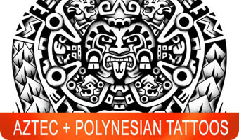 aztec polynesian tattoos, forearm tattoos, samoan tattoos