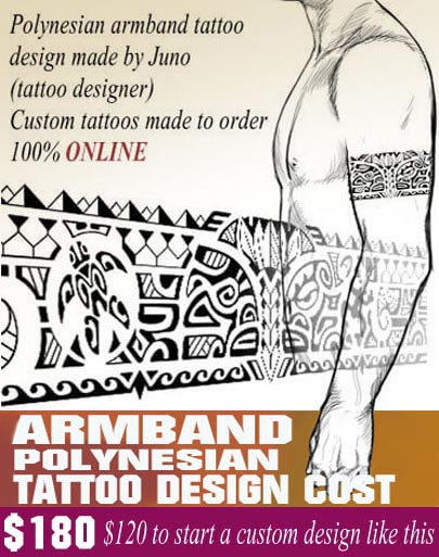 Polynesian armband tattoo - Create a custom tattoo %100 online