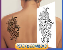 shoulder, girl, tattoo, stencil, template, feminine tattoo