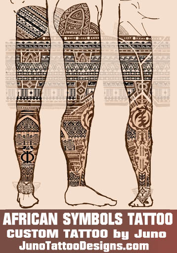 African Leg Tattoo Create A Custom Tattoo 100 Online