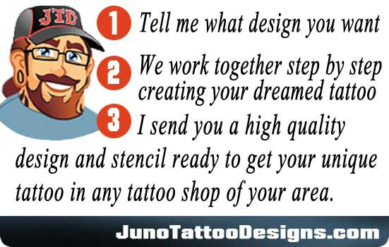 create your tattoo online, tattoo designer online, custom tattoos, tattoo templates, juno tattoo designs