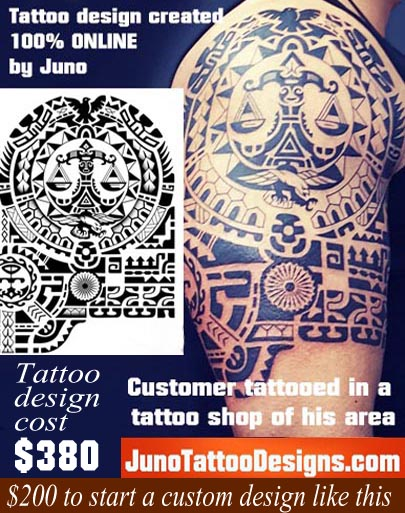 customer tattooed, polynesian tattoo, junotattoodesigns.com, samoan tattoo