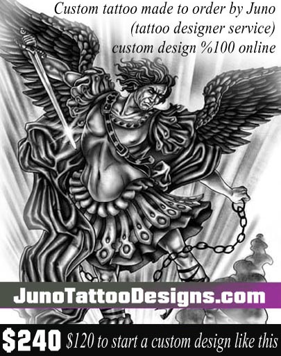 Saint Michael tattoo, archangel-tattoo, juno tattoo designs