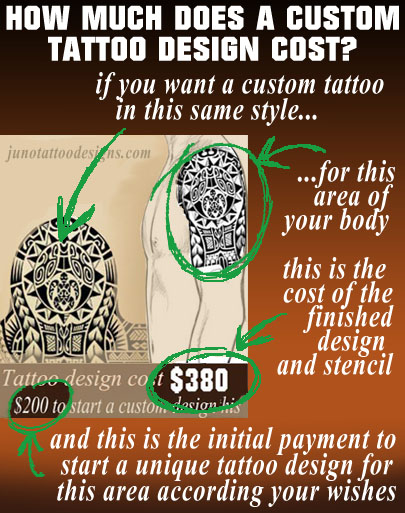 how does much a tattoo design cost ,juno tattoo designs ,create your tattoo