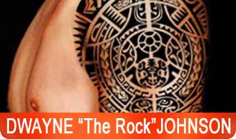 dwayne the rock johnson tattoos - polynesian tattoos