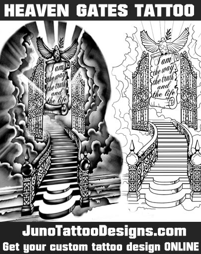 heaven gates tattoo, juno tattoo designs