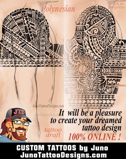 custom tattoo, polynesian tattoo, tattoo designer, samoan tattoo, create your tattoo online