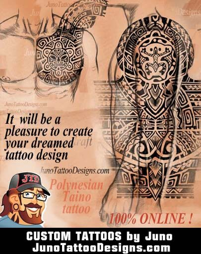 taino tattoo, polynesian tattoo, JunoTattooDesigns