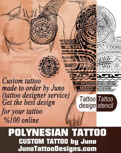 polynesian tattoo, custom tattoo, samoan tattoo, tattoo stencil, junotattoodesigns