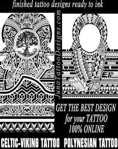Celtic Viking knots tattoo - Polynesian tattoo - juno tattoo designs