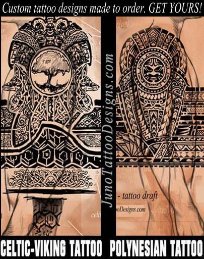 celtic tattoo, viking tattoo, tree of life tattoo, polynesian samoan tattoo