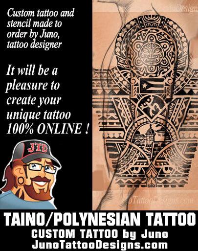 taino tattoo, puerto rico tattoo, polynesian male tattoo, arm tattoo, juno tattoo designs