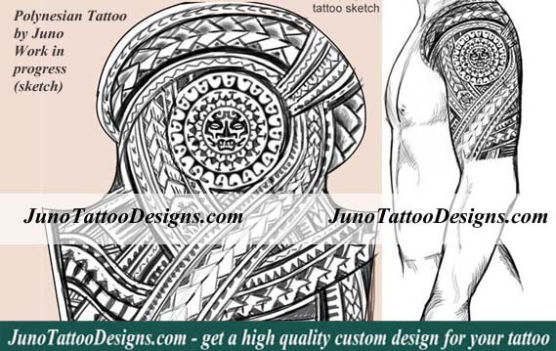 polynesian-tattoo, sleeve tattoo tribal, samoan tattoo, tattoo sleeve, junotattoodesigns
