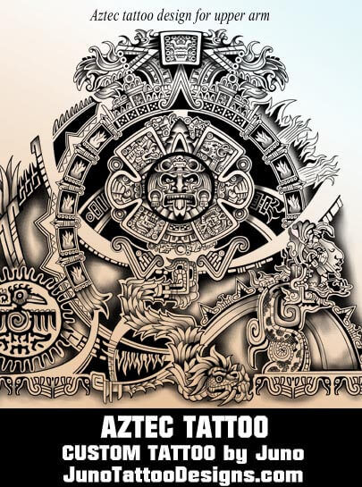 Aztec tattoos & templates| Calendar tattoo | Get yoursAztec Tribal Patterns Tattoos