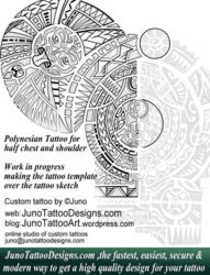 Polynesian tattoo template by juno tattoo designs