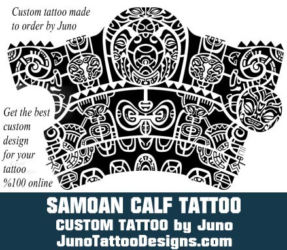 Samoan calf tattoo by  juno tattoo designs