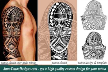 Tim Cahill tattoo- custom polynesian tattoo template