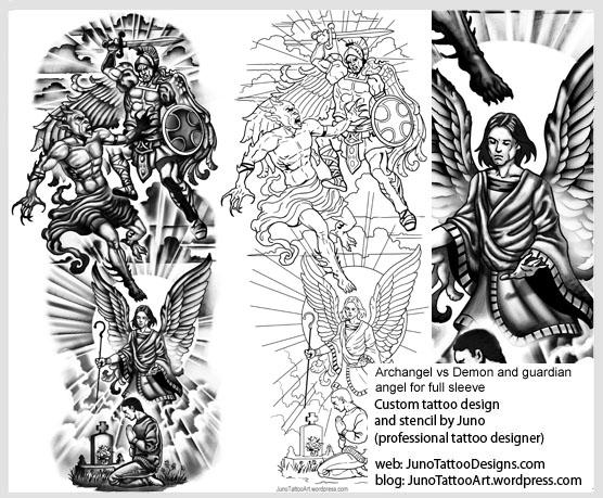 Angel And Demon Tattoos Custom Tattoo Designer Online