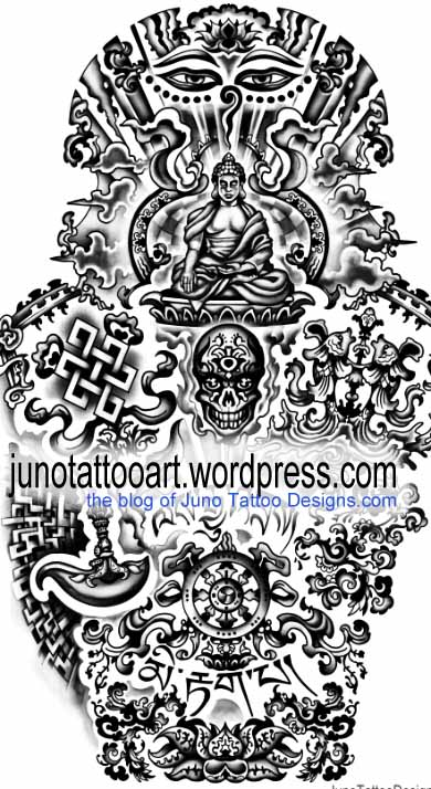tibetan buddhist tattoos meaning tattoo designer. Black Bedroom Furniture Sets. Home Design Ideas