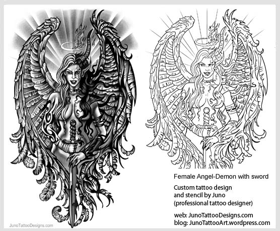 angel archives how to create a tattoo 0 online. Black Bedroom Furniture Sets. Home Design Ideas