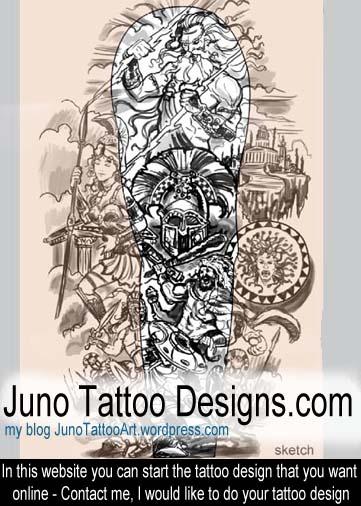 Greek Mythology Tattoos - Get your epic tattoo design HERE online