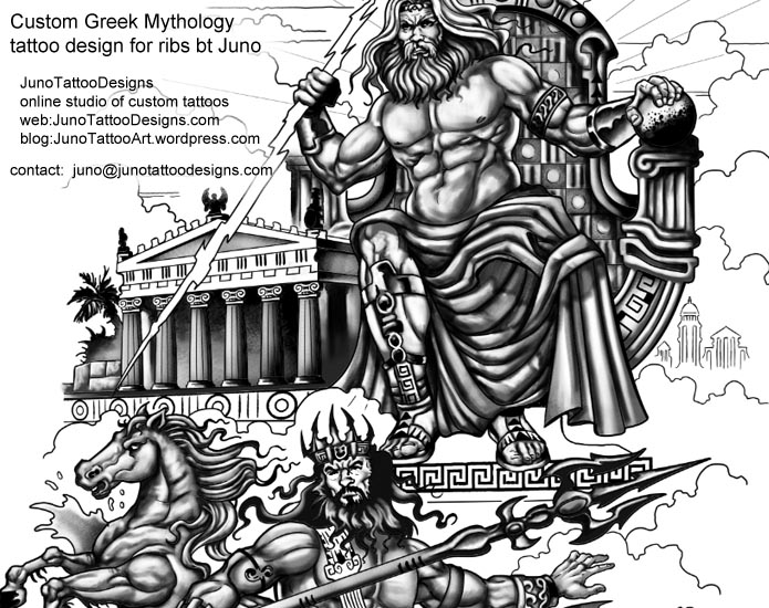 Greek Mythology Tattoos Get Your Epic Tattoo Design Here