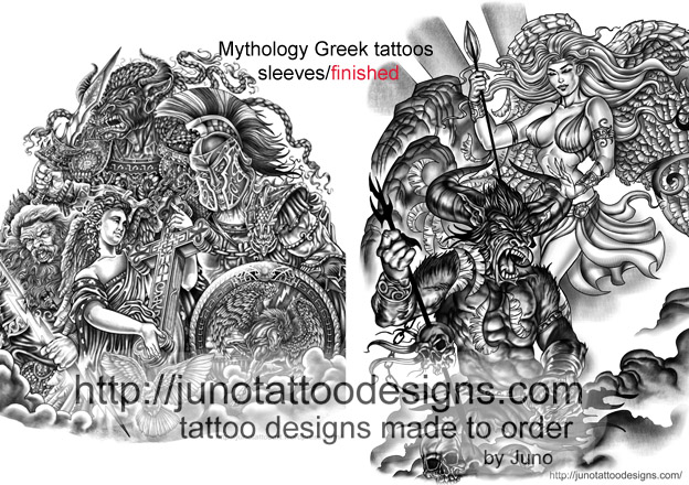 Greek Mythology Tattoos Get Your Epic Tattoo Design Here Online