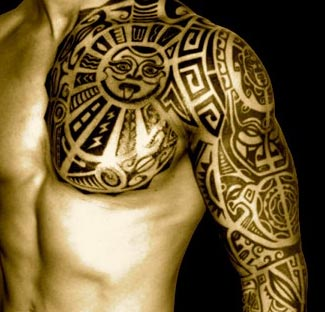 Polynesian samoan tattoos meaning symbols tattoo art for Polynesian tiki tattoo