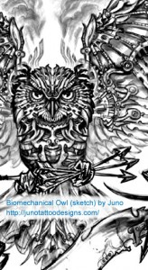 Biomechanical_owl_tattoo_design_junotattoodesigns.com_1