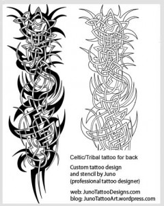 Celtic tribal tattoo for back- tribal tattoo template