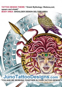 Medusa_owl_shield_tattoo_designs_deltoid_area
