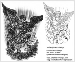 archangel-tattoo-and-template