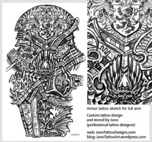 armor-skull-tattoo-for-sleeve